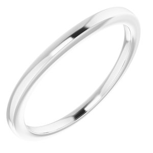 Sterling Silver Band for 8x4 mm Marquise Ring