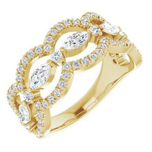 Load image into Gallery viewer, 14K Yellow 1 1/3 CTW Diamond Anniversary Band