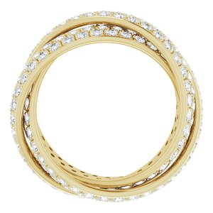 14K Yellow 3 1/3 CTW Diamond Eternity Band Size 7