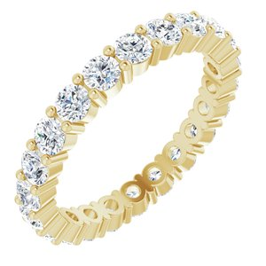 14K Yellow 2 CTW Diamond Eternity Band Size 6.5