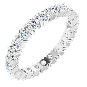 Platinum 2 CTW Diamond Eternity Band Size 5.5