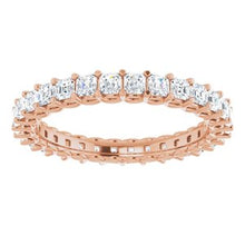 Load image into Gallery viewer, 14K Rose 1 1/2 CTW Diamond Eternity Band