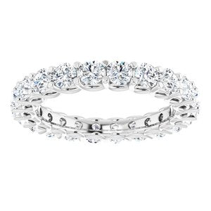14K White 2 1/5 CTW Diamond Eternity Band