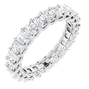 14K White 2 3/8 CTW Diamond Eternity Band