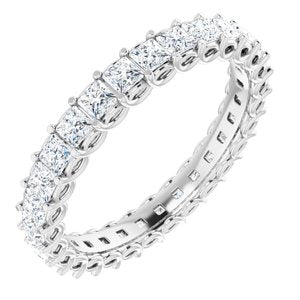 14K White 1 CTW Diamond Eternity Band