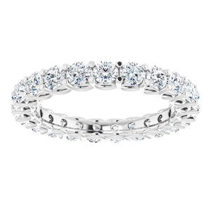 Platinum 2 1/8 CTW Diamond Eternity Band