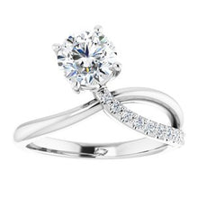 Load image into Gallery viewer, 14K White 1 1/8 CTW Lab-Grown Diamond Ring