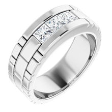 Load image into Gallery viewer, 14K White 9/10 CTW Diamond Men's Ring