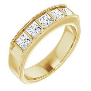 14K Yellow 1 3/8 CTW Diamond Men's Ring