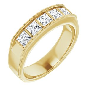 14K Yellow 1 1/4 CTW Diamond Men's Ring