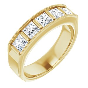14K Yellow 1 9/10 CTW Diamond Men's Ring