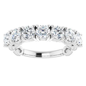 14K White 1 3/4 CTW Diamond Anniversary Band