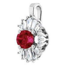 Load image into Gallery viewer, 14K White Ruby & 1/3 CTW Diamond Pendant