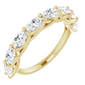 14K Yellow 2 CTW Diamond Anniversary Band