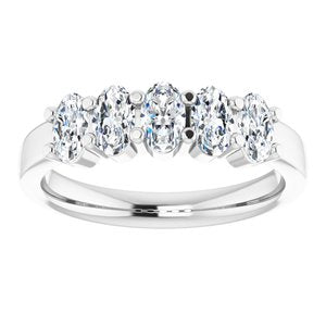 14K White 1 1/4 CTW Diamond Anniversary Band