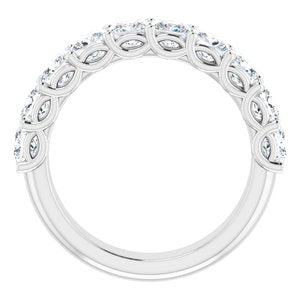 14K White 2 1/2 CTW Diamond Anniversary Band
