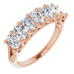 14K Rose 1 3/4 CTW Diamond Anniversary Band