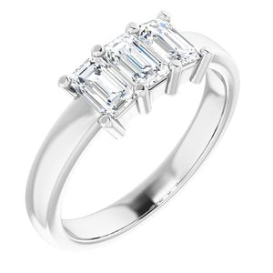 Platinum 1 1/8 CTW Diamond Anniversary Band