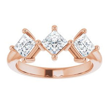 Load image into Gallery viewer, 14K Rose 1 1/16 CTW Diamond Anniversary Band