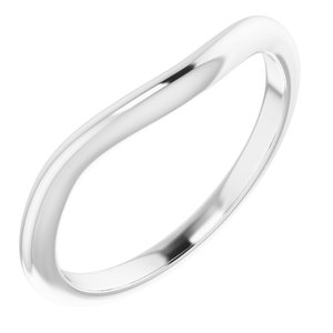 Sterling Silver  5 mm Square Wedding Band