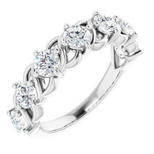 Load image into Gallery viewer, 14K White 1 1/2 CTW Diamond Anniversary Band