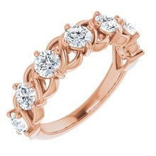 Load image into Gallery viewer, 14K Rose 1 1/2 CTW Diamond Anniversary Band