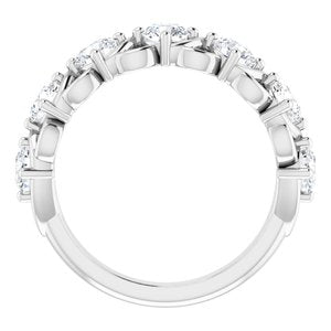 Platinum 1 1/2 CTW Diamond Anniversary Band