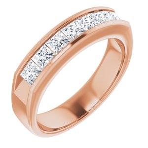 14K Rose 1 3/8 CTW Diamond Ring