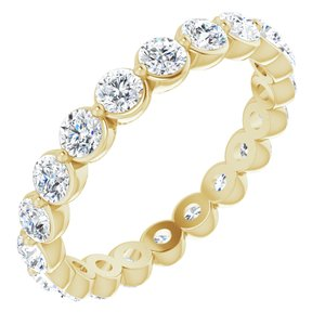 14K Yellow 1 1/5 CTW Diamond Eternity Band Size 4.5
