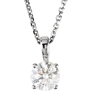 "14K White 3/4 CTW Diamond 18"" Necklace"