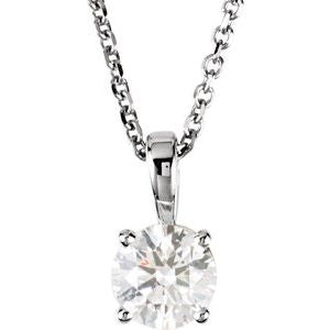 14K White 3/4 CTW Diamond 18