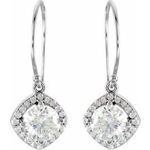 Load image into Gallery viewer, 14K White 2 1/5 CTW Diamond Earrings