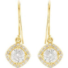 Load image into Gallery viewer, 14K Yellow 1 3/4 CTW Diamond Earrings