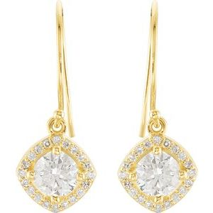 14K Yellow 1 3/4 CTW Diamond Earrings