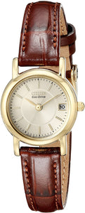 Citizen Women's EW1272-01P Eco-Drive Gold-Tone Stainless Steel Watch