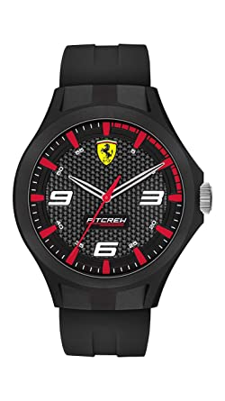 Scuderia Ferrari Pitcrew Mens Analog Black Casual Quartz 0830680