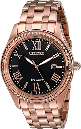 Citizen Watches Women's EO1143-54E Drive from Aml Rose Gold Tone Stainless Steel Watch