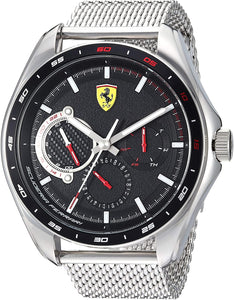 Ferrari Men's SPEEDRACER Quartz Watch with Stainless Steel Strap, Silver, 21 Model: 0830684