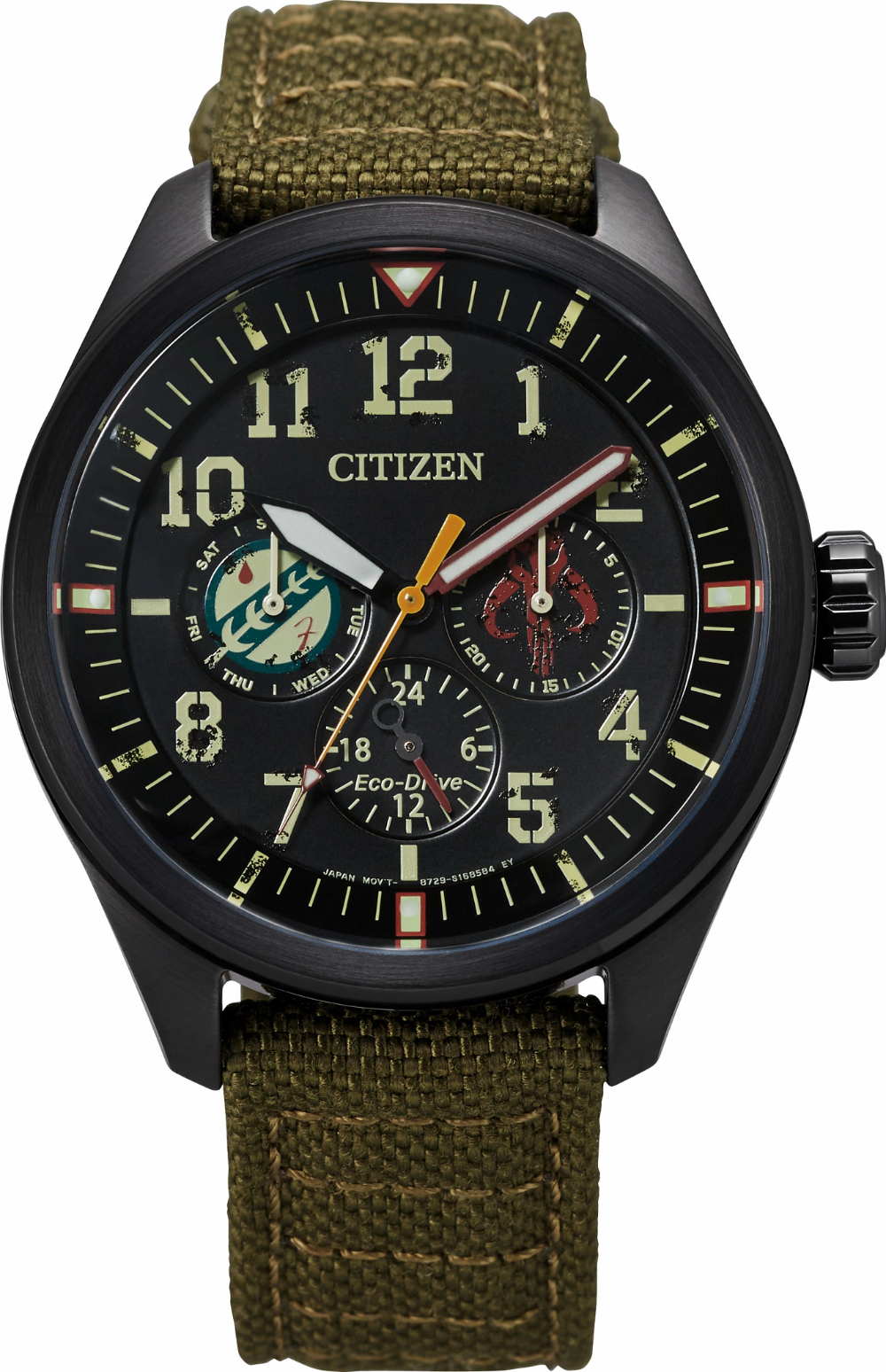 BU2058-00W Men's Citizen Eco-Drive® Star Wars™ BOBA FETT