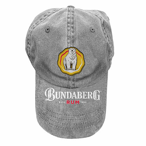 Bundaberg Rum Rosett Grey Washed Cap – Grey