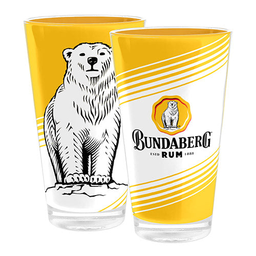 Bundaberg Rum Yellow \ White Tumbler x 1