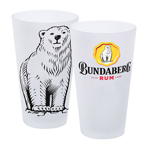 Bundaberg Rum Frosted Glasses - Set of 2
