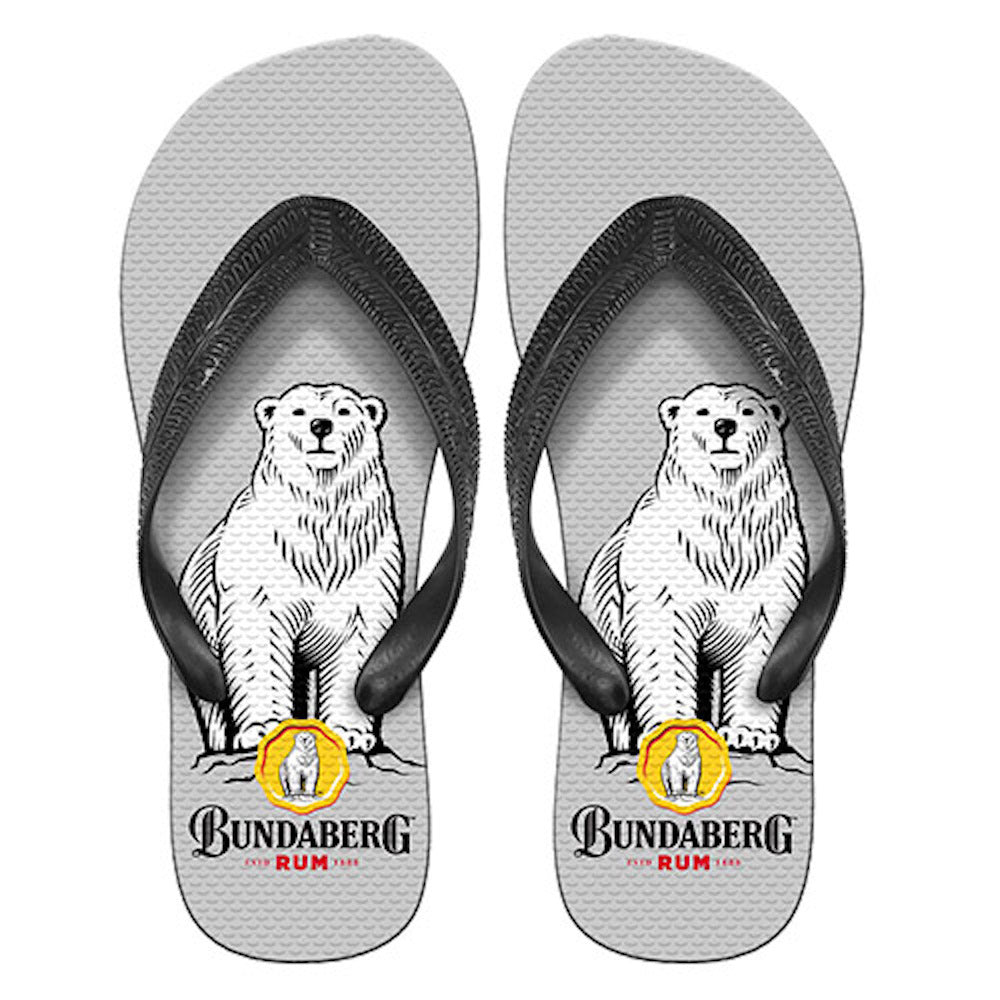 Bundaberg Grey Logo Thongs - Grey
