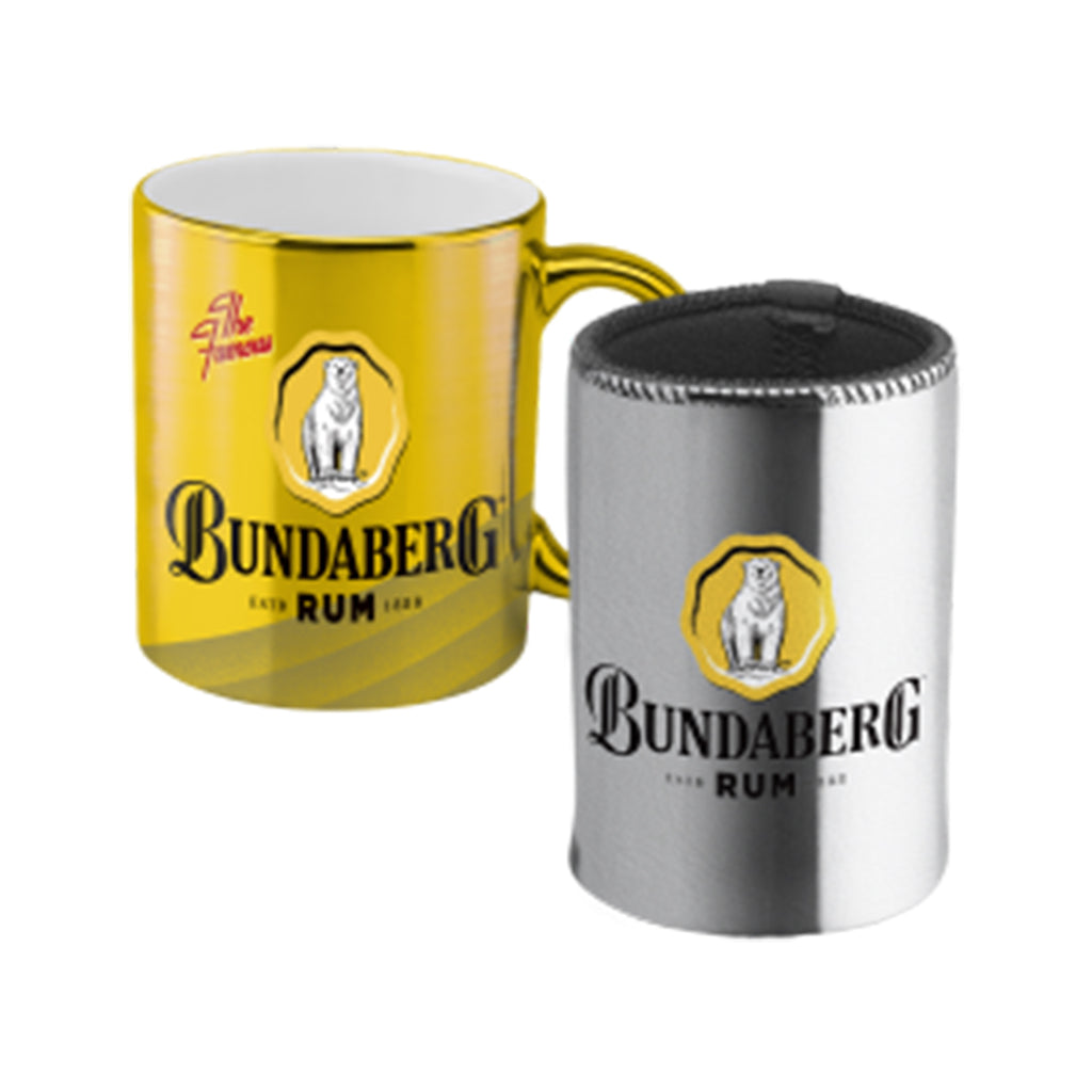 Bundaberg Rum Metallic Mug & Can Cooler