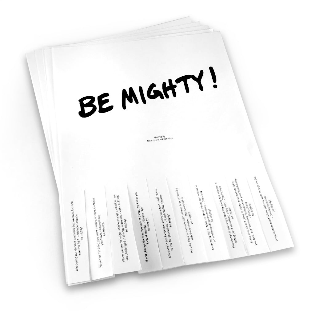 BE MIGHTY Flyer Pack