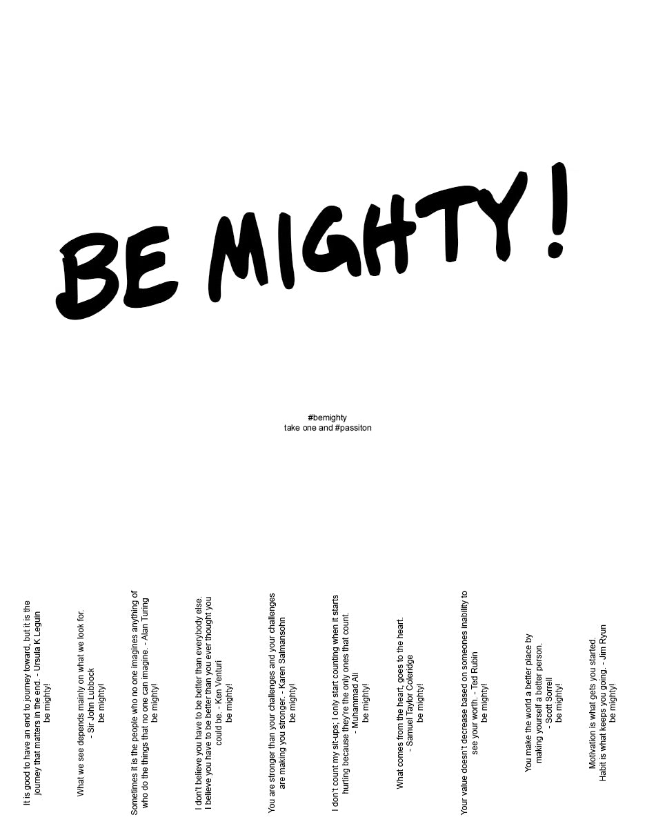 BE MIGHTY Flyer #50
