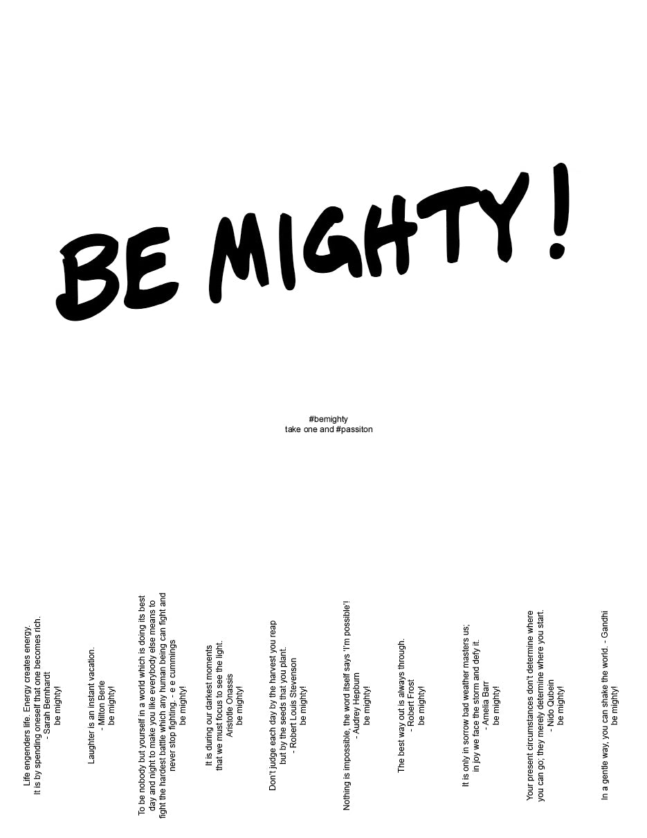 BE MIGHTY Flyer #52