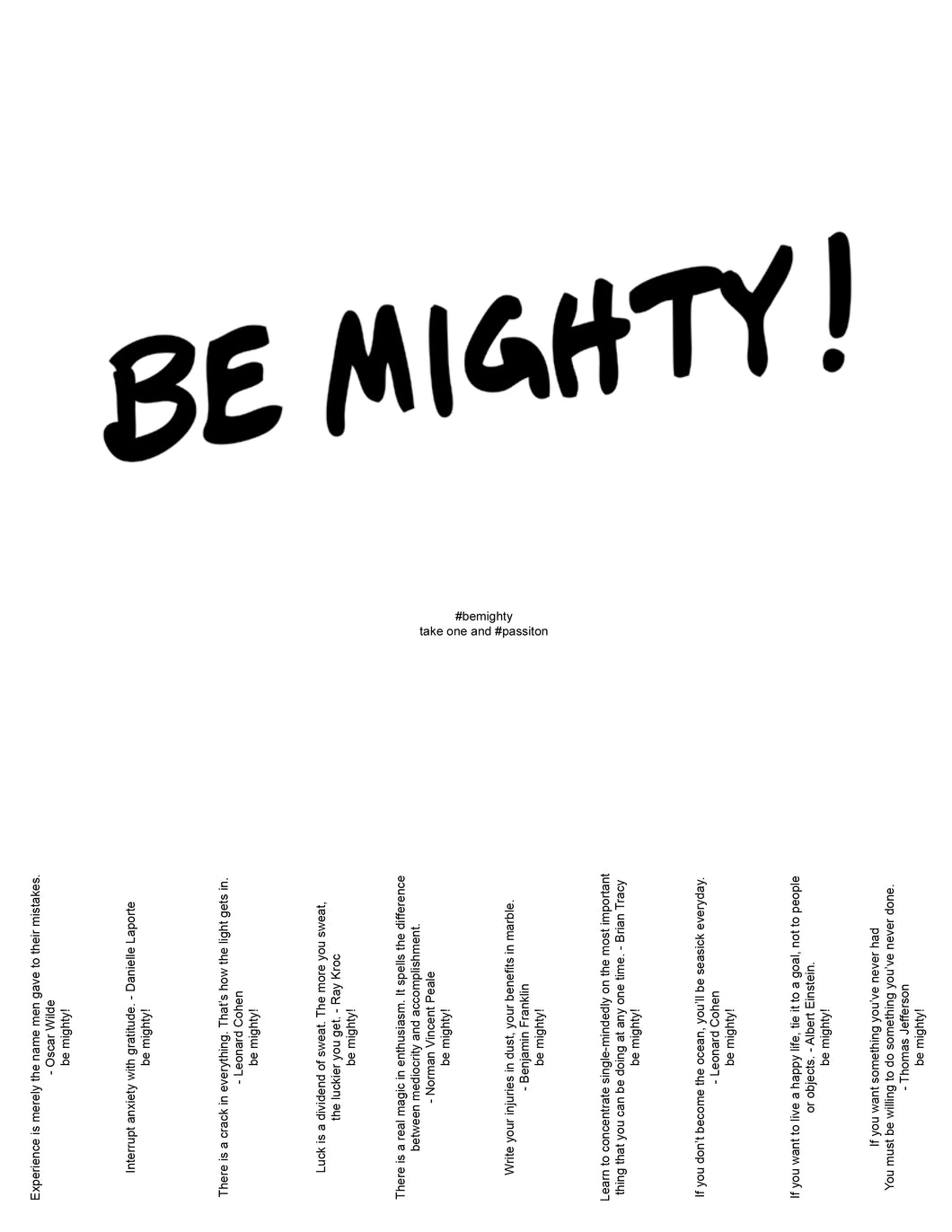 BE MIGHTY Flyer #57