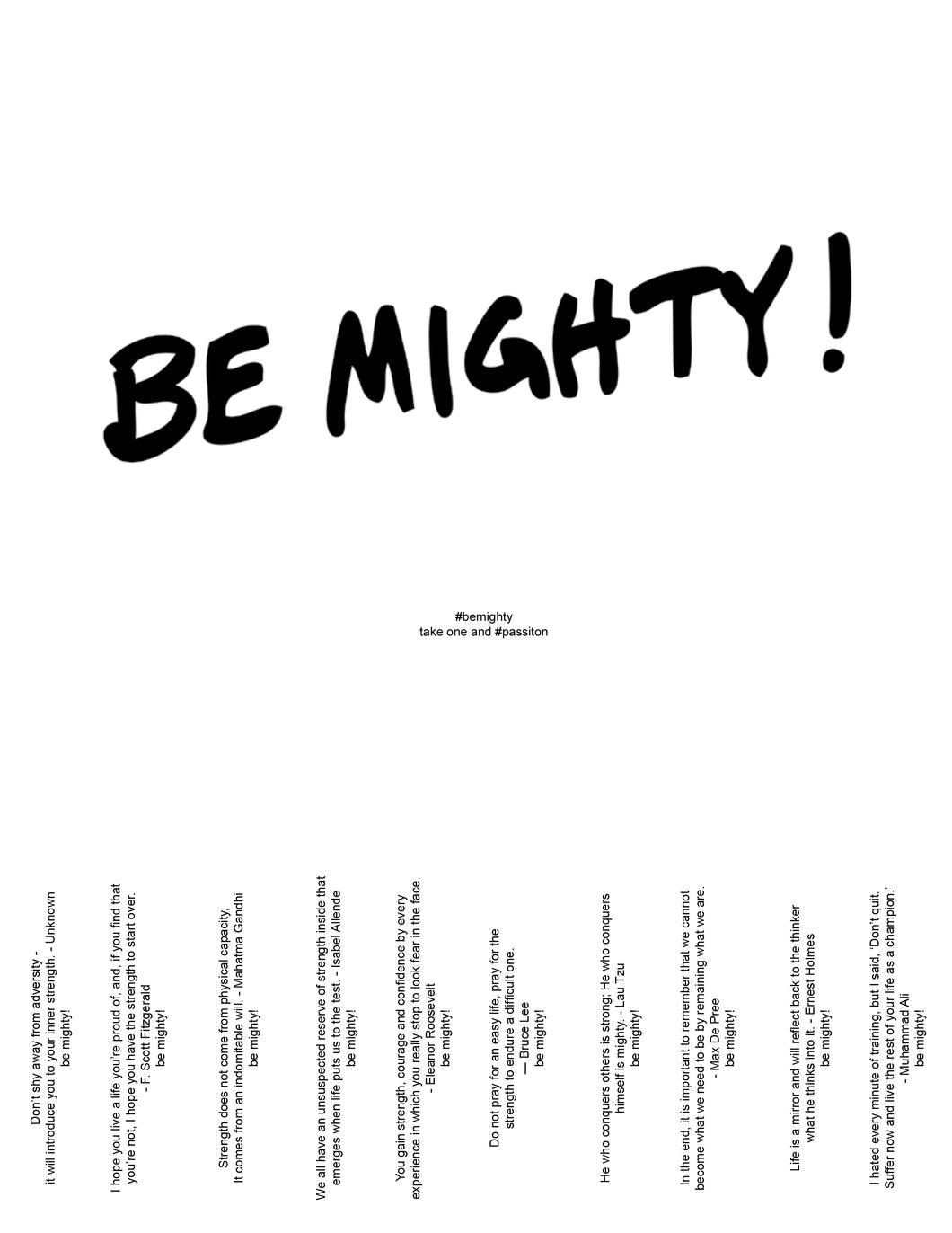BE MIGHTY Flyer #58