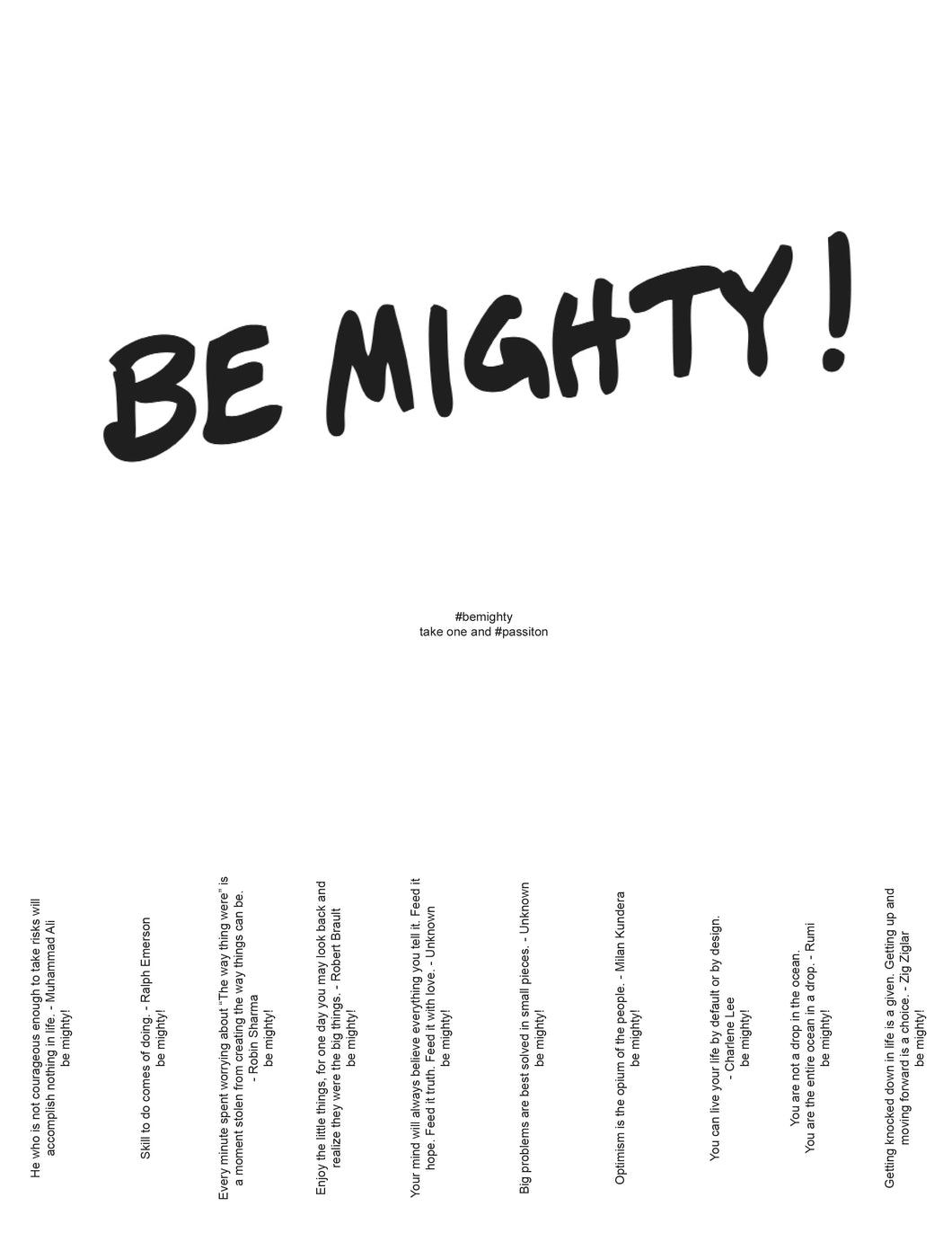 BE MIGHTY Flyer #60